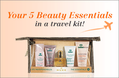 Your 5 beauty essentials in a travel kit!